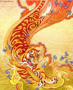 The devoted Tiger by Agata Kawa