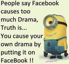 Funny Minion Quote About Facebook
