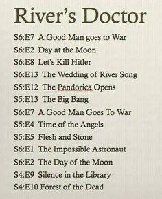 River's timeline