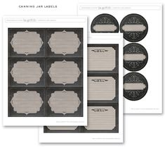 Free printable Chalkboard canning and freezer labels by liagriffith.com