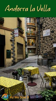Visiting Andorra la Vella is like visiting a less touristy Gatlinburg on steroids: rustic stone and wood buildings in a picturesque mountain setting. Click through to find out why it is worth visiting Andorra la Vella, Andorra's only city. | As We Saw It #andorra #andorralavella #europe