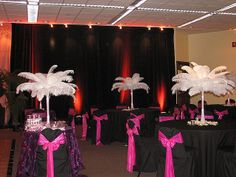 Feather Centerpieces only - Wedding Reception Decorations | Ostrich Feather Wedding Reception Decorations | Flickr - Photo Sharing ...
