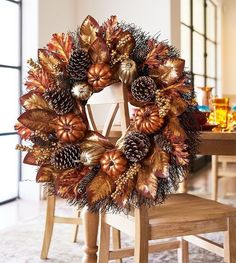 47 + Simple Fall Front Door Decor That Inspire - Home By jo Autumn Wreaths, Christmas Wreaths, Christmas Yarn, Spring Wreaths, Summer Wreath, Xmas, Fall Home Decor, Holiday Decor, Fall Arrangements