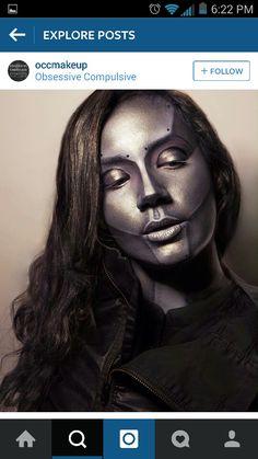 Tin man makeup