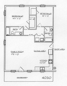 Image result for 30 by 40 floor plans Floor Plans Pinterest