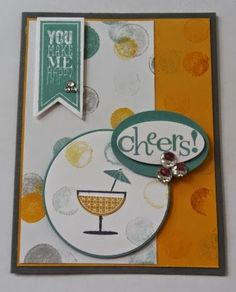 347 - Penny Tokens Stampin Spot.  Here's a Friendship card I just made for the PCCS#102 challenge.  http://pennytokensstampinspot.blogspot.ca/2014/07/happy-hour-friendship-card-pcccs-102.html penni token, friendship cards