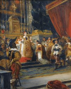 Ferdinand-Victor-Eugène Delacroix (Charenton-Saint-Maurice 1798 - 1863 Paris), Le Cardinal de Richelieu disant la messe dans la chapelle du Palais Royal