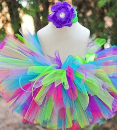 Tutu and bow by mistiquebows on Etsy