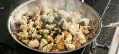 Spicy Caramelized Cauliflower with Raisins. (I don't even like cauliflower, but this sounds tempting.)