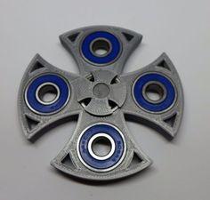 SILVER-EDC-Fidget-Hand-Spinner-Toy-3D-CELTIC-CROSS-Design-w-Blue-Steel-Bearings    http://www.ebay.com/itm/162442740272?ssPageName=STRK:MESELX:IT&_trksid=p3984.m1555.l2649