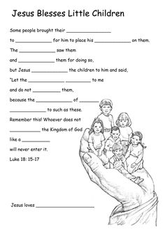 Growing Kids in Grace: Jesus welcomes the Children