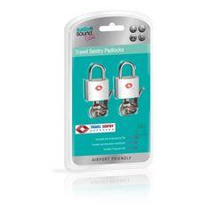 Set of 2 Travel Sentry Padlocks from Safe & Sound Travel.