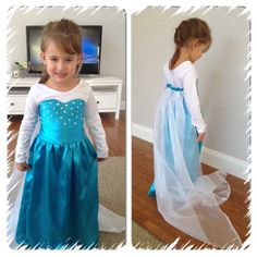 Hand made queen Elsa dress