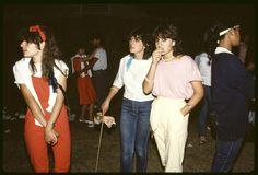 Melbourne teenagers at event 1984. Rennie Ellis