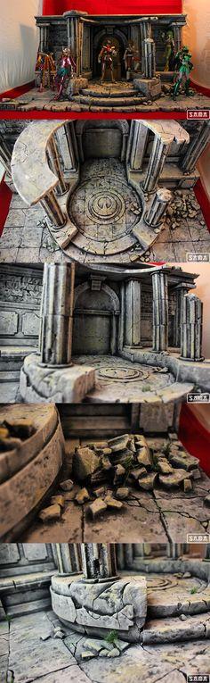 Nuevo proyecto terminado, esta vez basado en la serie de Saint Seiya donde se reproduce una parte del santuario dedicado a la diosa. Pensado para exponer un trono de Atenea y con los personajes V1 principales