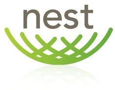 a modern take on a nest logo