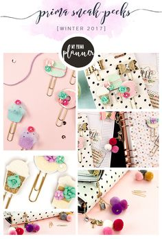 Okay, My Prima Planner Fans, we have a bunch of new goodies for you to enjoy!! These gorgeous, color-filled accessories are sure to make your planner unique, fun, sparkly, and adorable! Bows, macarons, cupcakes, and latte clips are just what your planner needs to spice it up! And those charms? Just take a good look at them. Add FUN to your planner with a new clip filled with charms and mini pom-poms.