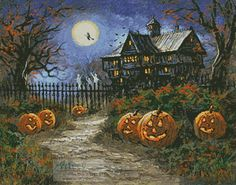 Spooky Halloween - Cross Stitch Chart - Click Image to Close