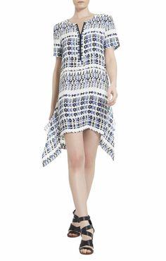 Pin for Later: 24 Kleider, die perfekt für den Besuch einer Strandhochzeit sind  BCBG Max Azria Short-Sleeve Dress ($268)