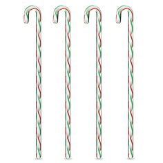 Sweet Canes Stirrers   These minty sticks look good enough to eat, but don't. Set of 4 glass stirrers.