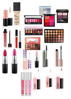 """""""Make up products"""" by rikey-byrnes on Polyvore featuring NARS Cosmetics, Victoria's Secret, Maybelline, MAC Cosmetics, Gucci, Morphe, Too Faced Cosmetics, Anastasia Beverly Hills, Christian Dior and Jouer"""