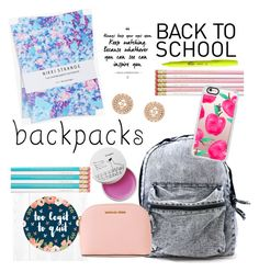 """""""bts backpack #2"""" by sweet-fashionista ❤ liked on Polyvore featuring MICHAEL Michael Kors, Casetify, Nikki Strange, Chanel, backpacks, contestentry and PVStyleInsiderContest"""