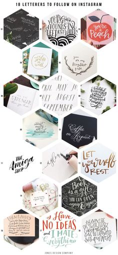 18 Letterers to follow on Instagram / jones design company
