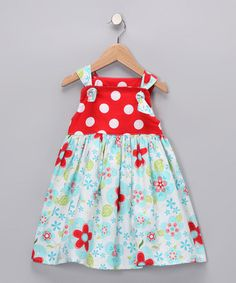 Take a look at this Blue Floral Knot Dress - Infant, Toddler & Girls by Muchilunga on #zulily today!