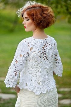 Irish crochet &: Freeform jacket