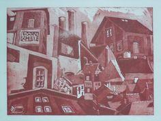 Mészáros Marianna: Krumlov 2. - Utazás, külföldi helyek, élmények - Grafikák - Webáruház - Művészi ajándék - Cultural Gifts - Kecskemét, Magyarország