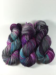 Merino Superwash Worsted Hand Dyed Yarn Winter by HauteKnitYarn