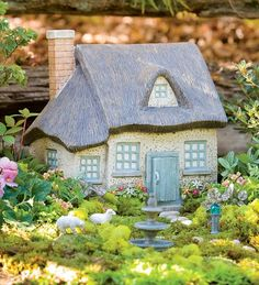 Resin Gray Fairy Cottage in {productContextTitle} from {brandTitle} on shop.CatalogSpree.com, your personal digital mall.