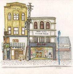 秋色波连波的相册-东京画录 junaida的画作和他的书店