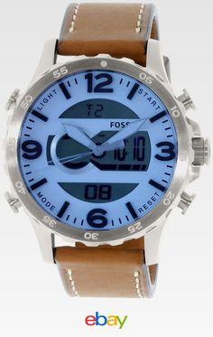 e90cd5ea3d0 Fossil Men s Nate JR1492 Brown Leather Quartz Fashion Watch