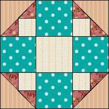 Block of Day for April 24, 2016 - Fanny's Favorite-strip piecing-The pattern may be downloaded until: Wednesday, May 4, 2016.