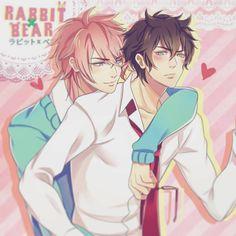 My nameless OCs. <3 #joberufanart #joberu #joberusketch #yaoiartist #yaoi #gay #rabbitxbear #gaycouple #pinkaoba #pink #seme #uke