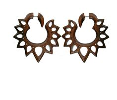 Fake Plug Earrings Fake Gauge Earrings Ear Gauge Ear by NELAJAPAN