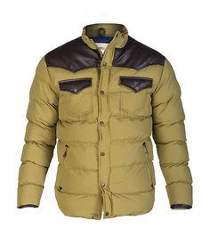 DECIBEL MENS SOLID DOWN FILLED JACKET Green