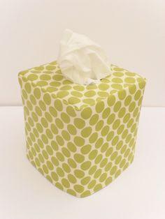 Green Dot reversible tissue box cover. $10.75, via Etsy.