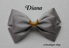 Up for your consideration is a custom made Diana hair bow.    The bow measures 5 inches wide and 3 inches tall. I will attach whichever clip you