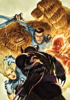 Leinil Yu comic art gallery dark wolverine vs fantastic four Wolverine Artist