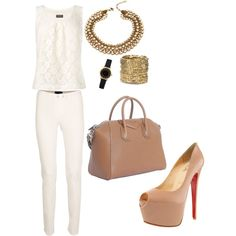 clean, created by #tricciagonzales on #polyvore. #fashion #style Phase Eight Christian Louboutin
