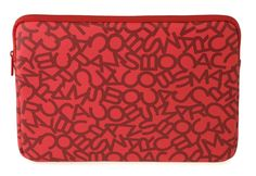 "Marc by Marc Jacobs Scrambled Logo Coated Neoprene 13"" Computer Case in Shock Red Multi"