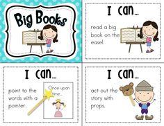 "Ricca's Kindergarten: Literacy Centers ""I Can"" Cards Kindergarten Literacy Stations, Kindergarten Language Arts, Learning Stations, Kindergarten Classroom, School Classroom, Literacy Centers, Classroom Ideas, Writing Centers, Classroom Procedures"