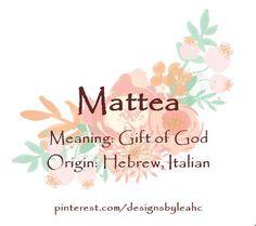 Baby girl name aurelia meaning golden origin latin story baby girl name mattea meaning gift of god origin hebrew negle Gallery