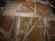 Crisp bread from Christmas Goodies Bag of Katinen Manor. Breads are baked in our kitchen and packed on pine shingle.
