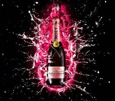 Buy a crate of 6 Champagne bottles of Moet & Chandon Rose - Moet Rose Champagne Gift, and get them all packed into a protective outer box and delivered together. Moet Chandon, Champagne Moet, Champagne Bottles, Pop Bottles, Moet Rose, Veuve Clicquot, Wild Strawberries, Growing Grapes, Red Fruit