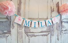 Baby Banner Name bannerBaby Shower Decor by lolaandcompany on Etsy