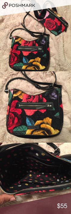 Vera Bradley Mini Vivian crossbody Both items are in excellent condition! I can fit my iPhone 6 Plus in both of them, my Kate Spade wallet, small lotion, and a pack of Kleenex. I'm selling them together and my price is firm‼️ Havana Rose pattern Vera Bradley Bags Crossbody Bags