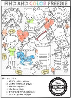 Find and Color Freebie